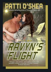 Ravyn's Flight cover, Science Fiction Romance by Patti O'Shea